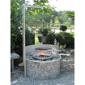 steinkorb gartenfeuerstelle typ stonehenge 1 marbacher swiss fireplaces. Black Bedroom Furniture Sets. Home Design Ideas